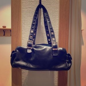 Perkins Black Italian Leather Purse